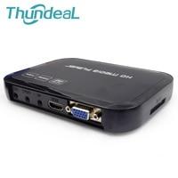 Hd601 multimedia MKV H.264 Full HD 1080 p HDMI HDD Media Center jugador HDMI VGA salida AV con Control remoto avi RM rmvb OTG