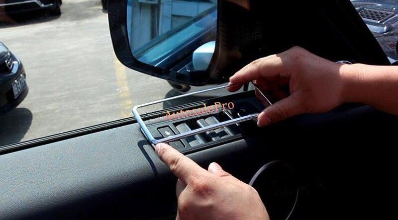 ABS Chrome mat intérieur porte fenêtre interrupteur accoudoir cadre couvercle garniture 4 pièces pour Land Rover Range Rover Sport 14-16
