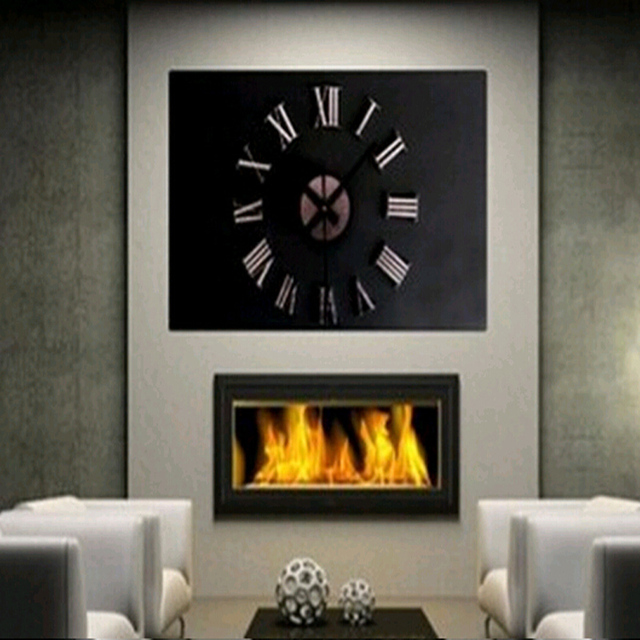 2015 3d diy acrylic style coffee sale new wall clock set watch clocks quartz geometric needle single face free shipping