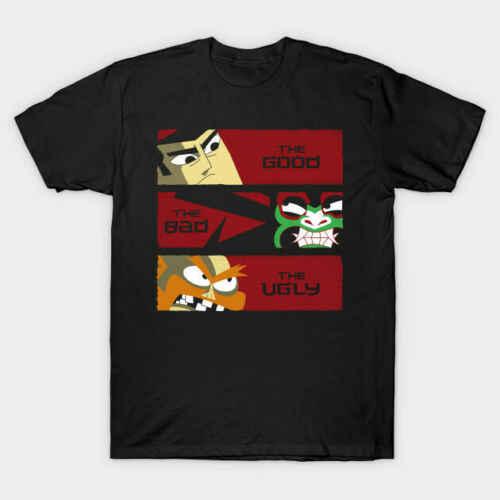 De Goede Samurai Jack De Slechte Demon Aku De Lelijke Scotman Zwart T-Shirt Gift Print T-shirt, hiphop Tee Shirt, NIEUWE AANKOMST tees