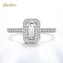 OneRain Classic 100% 925 Sterling Silver Created Moissanite Diamonds Crystal Gemstone Engagement Wedding Rings Jewelry Wholesale