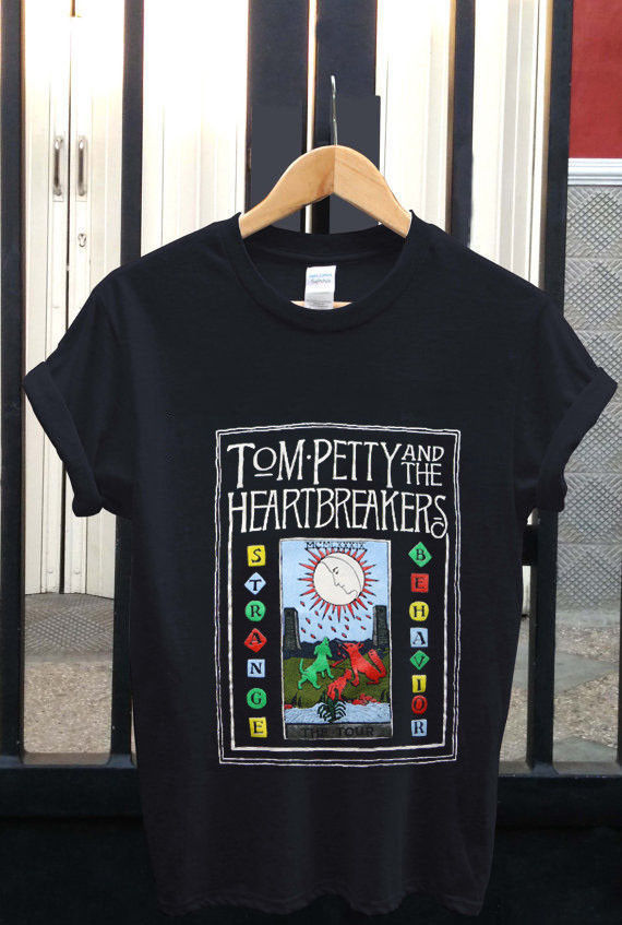 New T-Shirt Tom Petty Strange Behavior T-Shirt Black Mens Size : S - 2XL