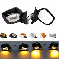 Motorcycle Black/Chrome/White Rearview Mirrors LED Turn Signals For Honda Goldwing GL1800 01 12 01 02 03 04 05 06 07 08 09 10