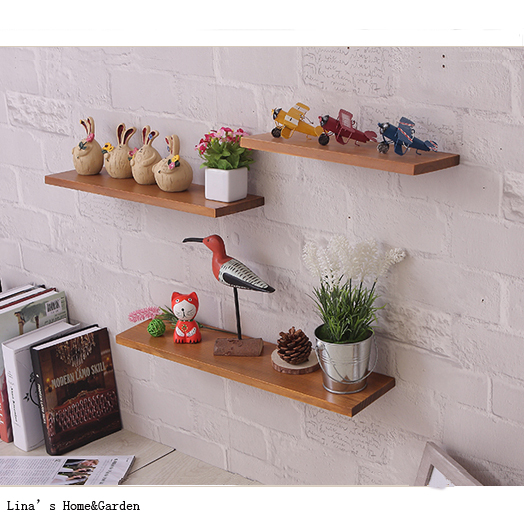 Aliexpress Buy Set 40 Chic Vintage Brown Fir Wood Floating Wall Magnificent Where To Buy Floating Wall Shelves