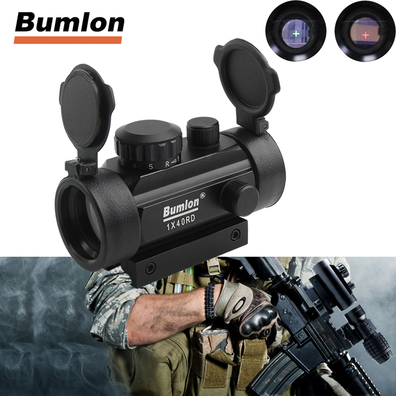 Tactical Holographic Sight Green Red Dot Sight Scope 1x40mm Cross Hair Riflescope with <font><b>11mm</b></font> 20mm Rail Mount For Airsoft 5-0024