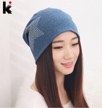 2018 Free shipping autumn and winter beanies diamond turban Pentacle cap skullies hip-hop hat for women men bonnet 6 colors 1
