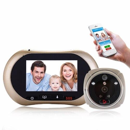 3,7 дюймов wifi/GSM 2MP Видео дверной телефон ИК ночного видения глазок