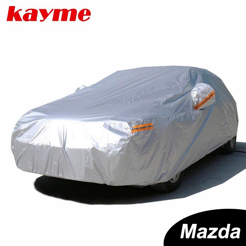 Kayme Imperméable bâches de voiture soleil poussière Pluie protection bâche de voiture auto suv de protection pour mazda 3 2 6 5 7 CX-3 cx-5 cx-7 axela