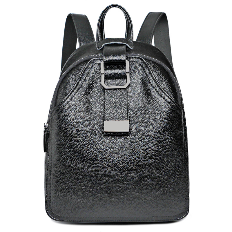 Quality, Fashion, High, Backpack, Leather, New