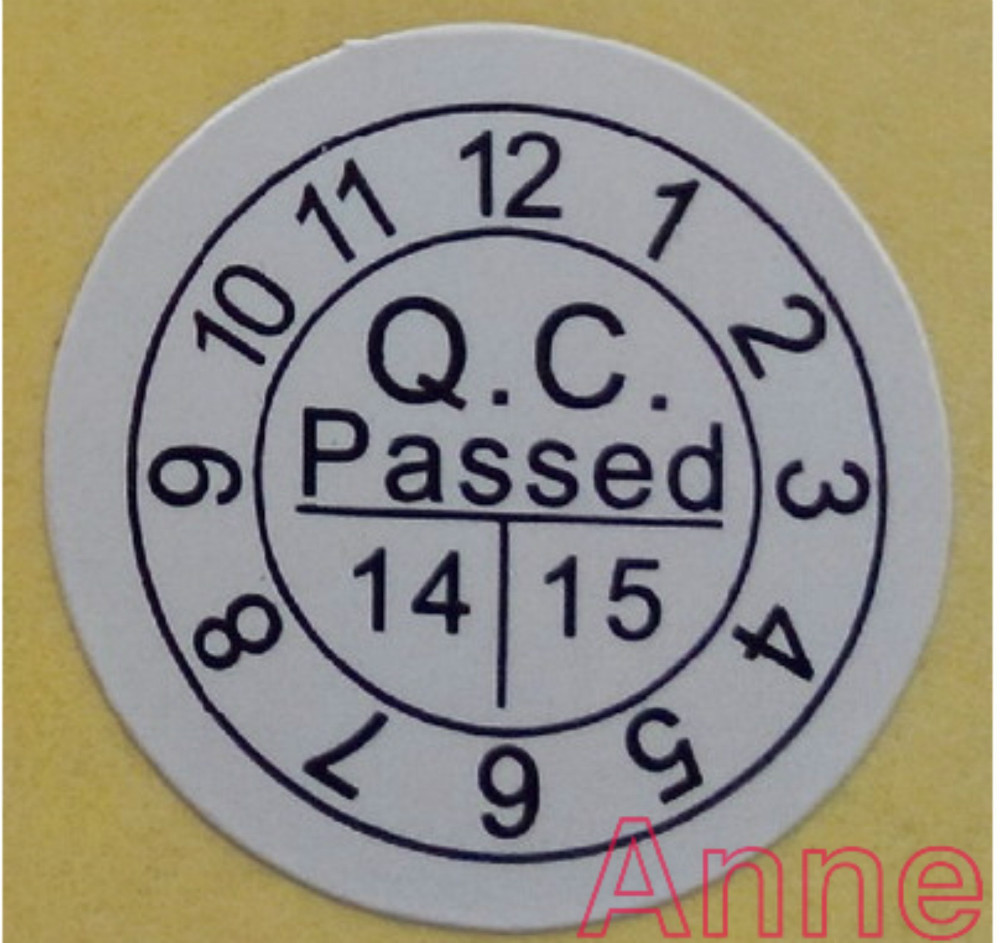 Stock white color qc passed paper sticker mirror surface 10000pcs 1 2cm qc passed label sticker free shipping on aliexpress com alibaba group