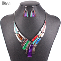 MS17812 Fashion Brand Jewelry Sets Silver Plated Leaser Pattern 5 Colors 2014 New Bridal Jewelry High Quality Party Gifts