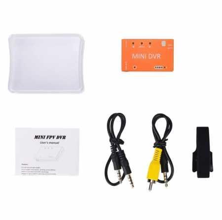 Мини FPV DVR Модуль NTSC/PAL переключаемый встроенный аккумулятор Видео Аудио FPV рекордер для RC гоночных FPV моделей дронов