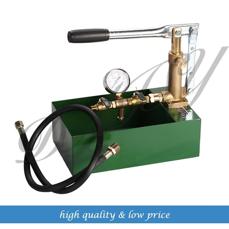 High-quality Pure Copper Pump Manual Pressure Test Pump 100KG Hand Pressure Mold Water Machine 10Mpa Pressure Testing Machi 10mpa pressure gauge ynxc 150zt
