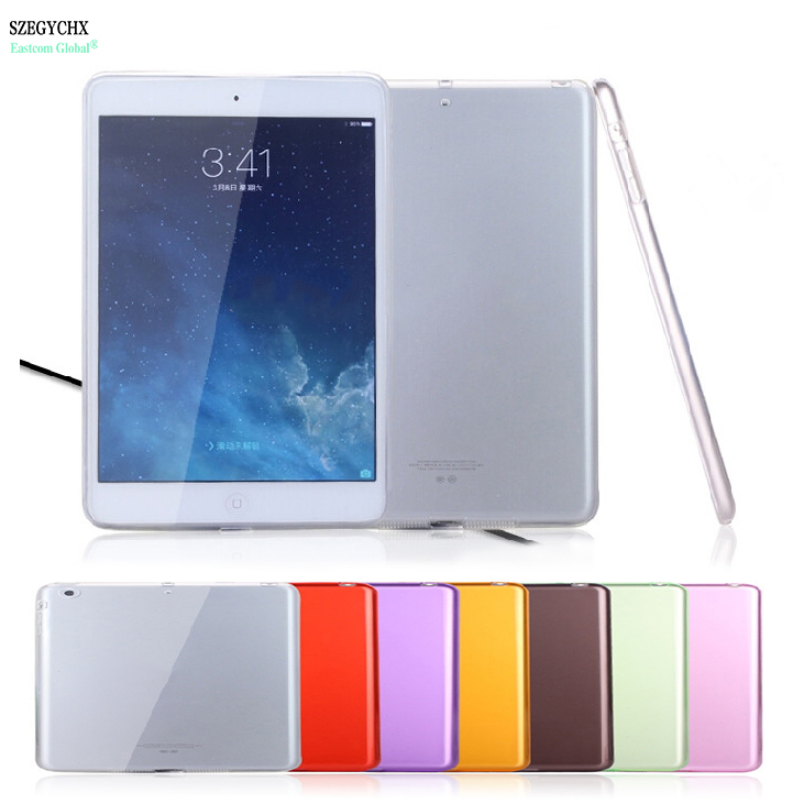 SZEGYCHX Tablet Cases For iPad Mini1 Mini2 Mini3 Case Crystal Transparent Silicon Ultra Thin TPU Soft Transparent Cases Cover