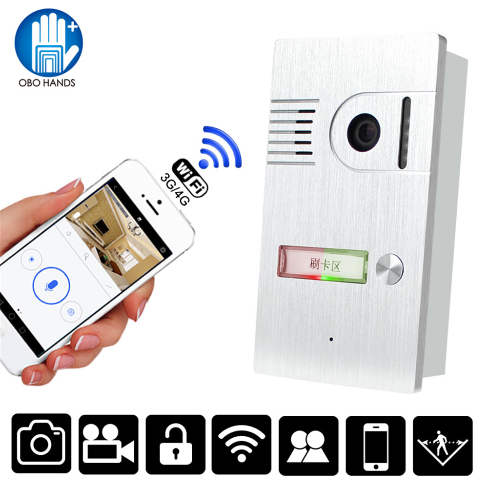 Smart Door Intercom System Video Doorbell RFID WiFi Wireless Camera Night Version IR Motion Detection Alarm for IOS/Android
