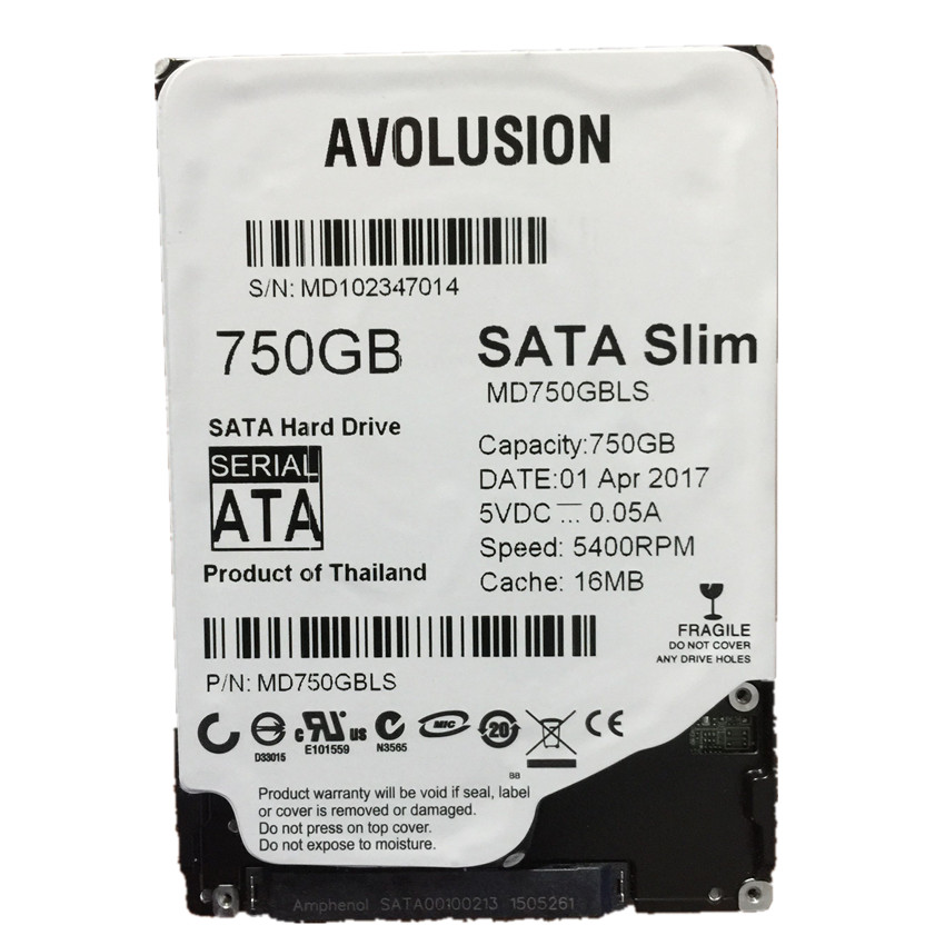 750 gb 2.5 pouces 7mm Mince HDD SATA 6 gb/s 5400 rpm 16 mb Cache Garantie pour 1- année