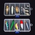 Transparente Atração Plástica da Pesca Bait Caixa De Armazenamento Organizer Container Caso frete grátis