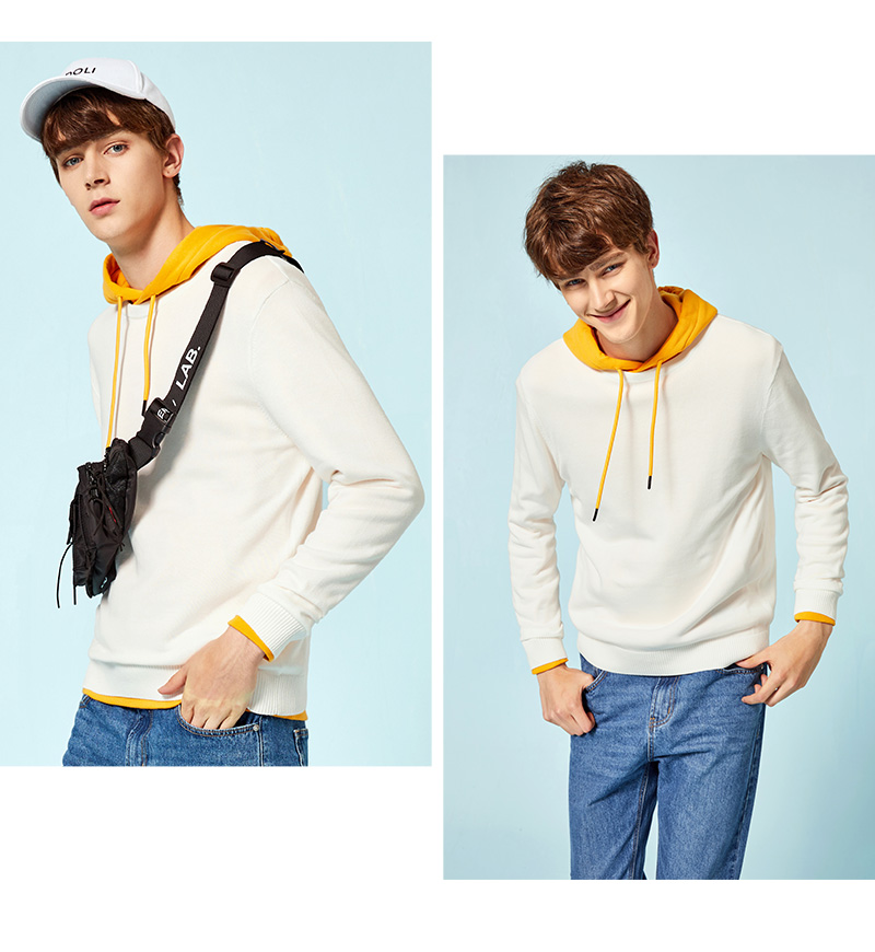 SEMIR New Brand Wool Sweater Men 19 Autumn Fashion Long Sleeve Knitted Pullover Men Cashmere Sweater High Quality Clothes 9