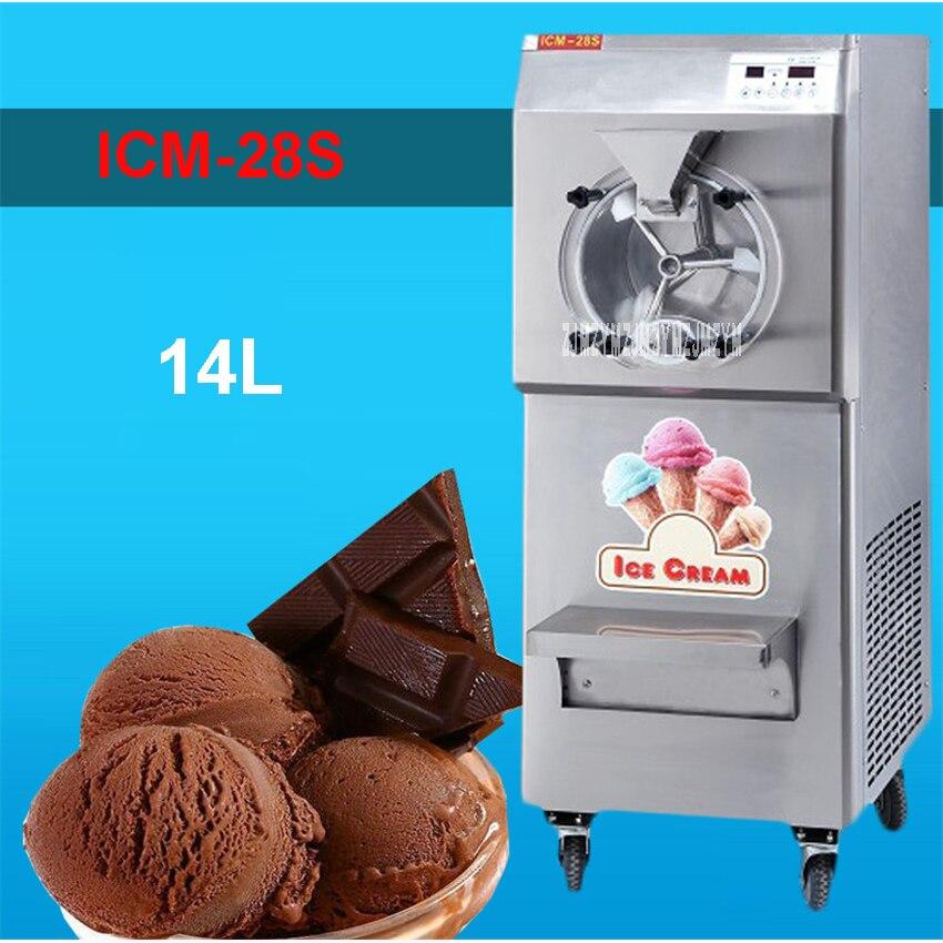 ICM-28S 110V/220V Stainless Steel Commercial Gelato Maker Brand New Italian Ice Cream Machine High Quality 28-35L/H 2200W edtid new high quality small commercial ice machine household ice machine tea milk shop