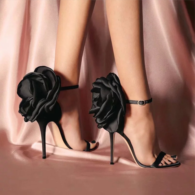 Summer Big Butterfly knot Women Sandals Stiletto High Heel Shoes Ankle Strap OL Sexy Pump Party Wedding Shoes Size 35 40 in High Heels from Shoes