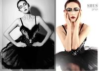 Ballet Adult Ballet Tulle Dress Black And White Dress Costume Feather Ballet Photo Service