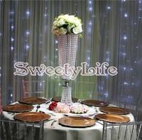 80cm tall acrylic crystal flower stand for wedding table centerpiece Crystal pillars wedding supply DE32