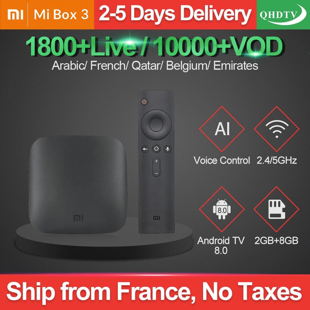 IPTV France Arabic Xiaomi Mi Box 3 QHDTV Belgium Arabic IPTV Subscription 2G 8G Netherlands Morocco IP TV French Qatar IPTV Code-in Set-top Boxes from Consumer Electronics