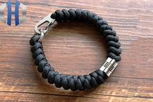 Hand-knitted Titanium Alloy Tube Luminous Pendant + Keychain Umbrella Rope Bracelet Emergency Paracord EDC