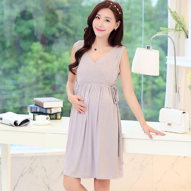 175dc7714a4fc Summer Modal Breastfeeding Nursing Clothes Dress For Feeding Maternity  Clothing Wear Pregnant Women Pregnancy Mothers Fashion