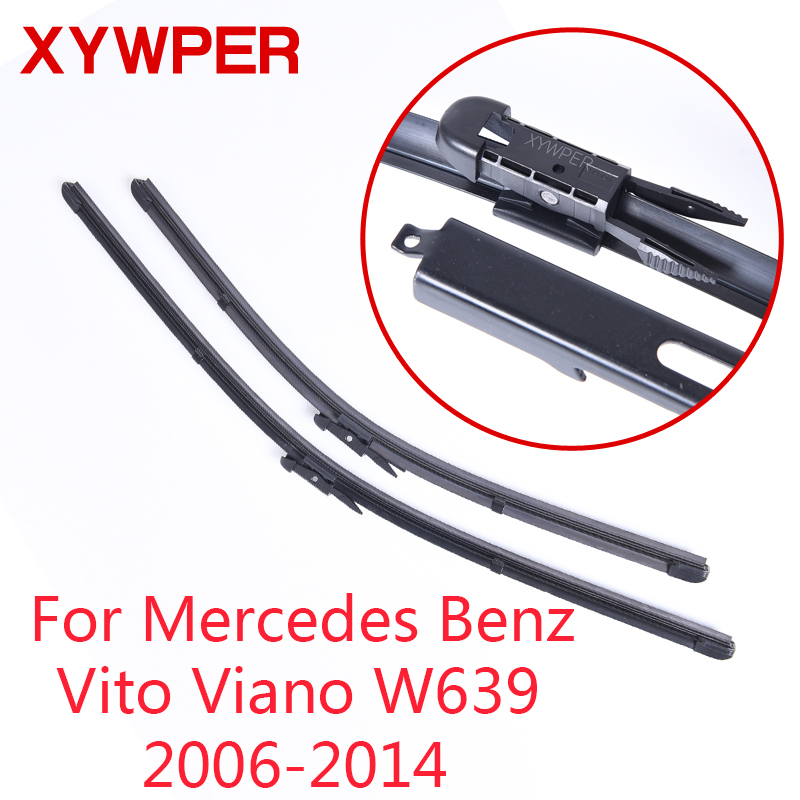 XYWPER Wiper Blades for Mercedes-Benz Vito Viano W639 2006 2007 2008-2014 28&26 Car Accessories Soft Rubber Windscreen wipers image