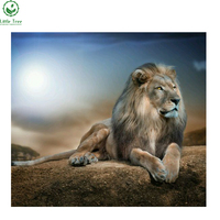 Factory Direct Sale Animal Series Diamond Painting Lion Handwork Crystal Inlay Resin Crafts Rhinestone Embroidery Home