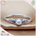 Top Quality Fitting Oringal Famous  Brand 100% 925 Sterling Silver Pearl Ring