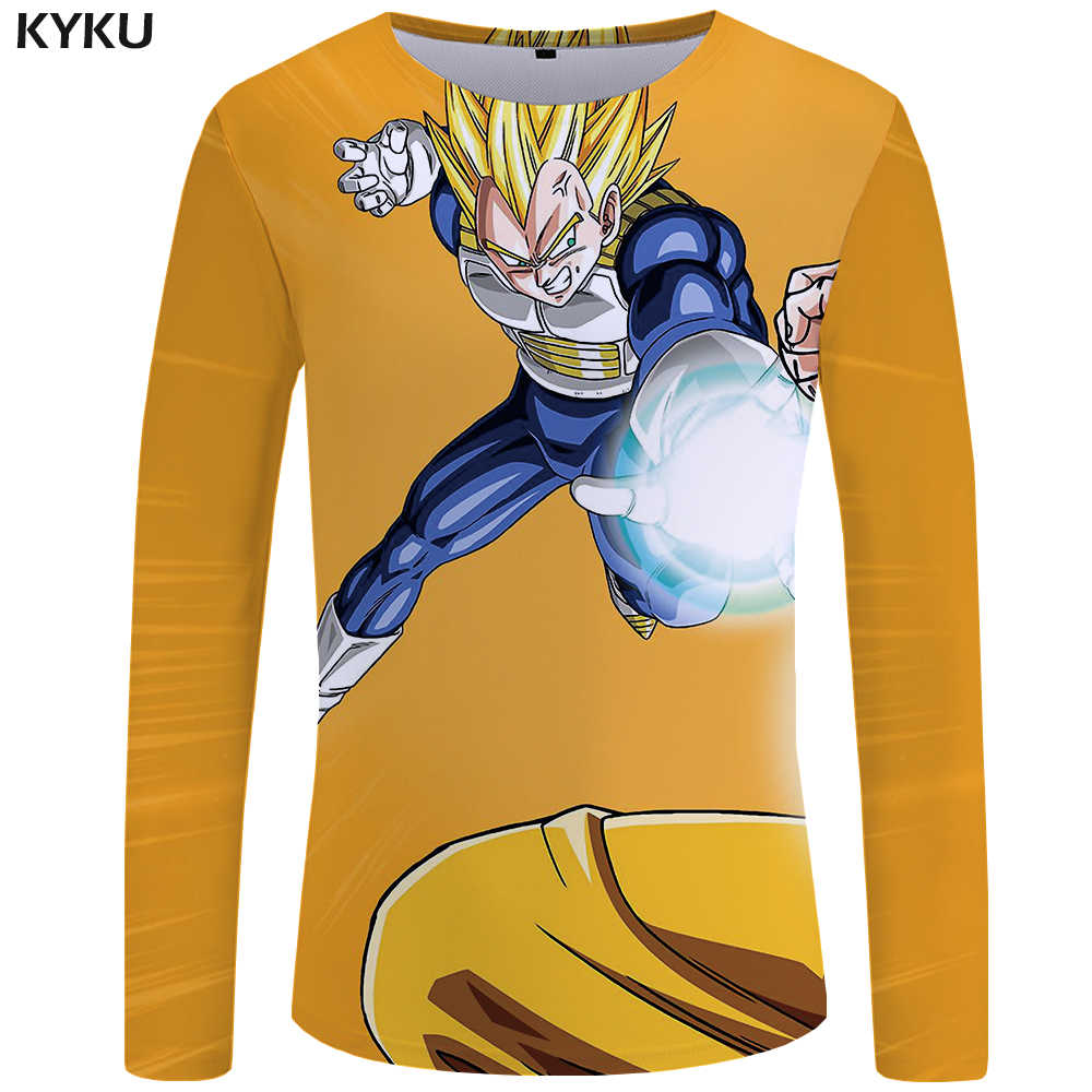 f470bfc2 ... KYKU Brand Dragon Ball Z T shirt Men Long sleeve shirt 3d T-shirt Goku  Mens