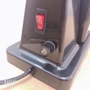 Image 4 - 110V ו 220V כדי 240V שחור צבע קפה מטחנת מכונת קפה מיל עם תקע מתאם