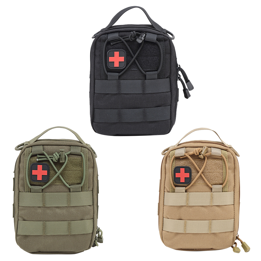 Nylon Military First Aid Bag Molle Medic Pouch Tactical Wallet Pouch Emergency EDC Rip-Away Survival Utility Pouch