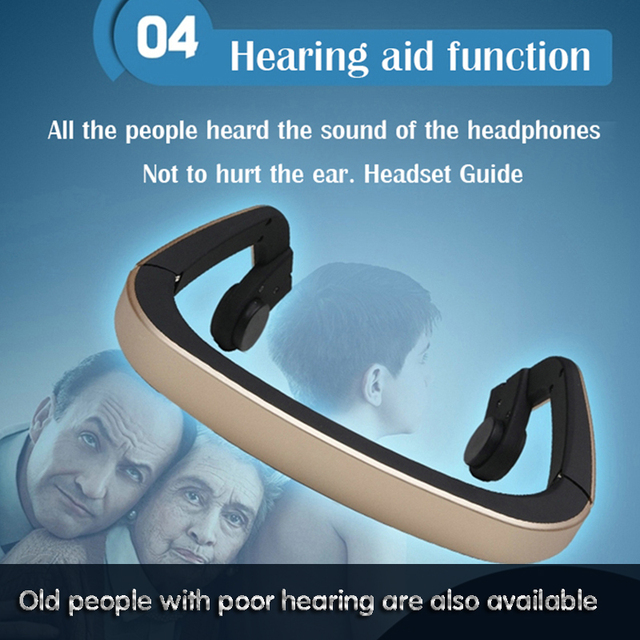 Bone Conduction Headset Wireless Bluetooth Outdoor Sports bass Headphone for with Mic high quality luxury mobile phone earphones