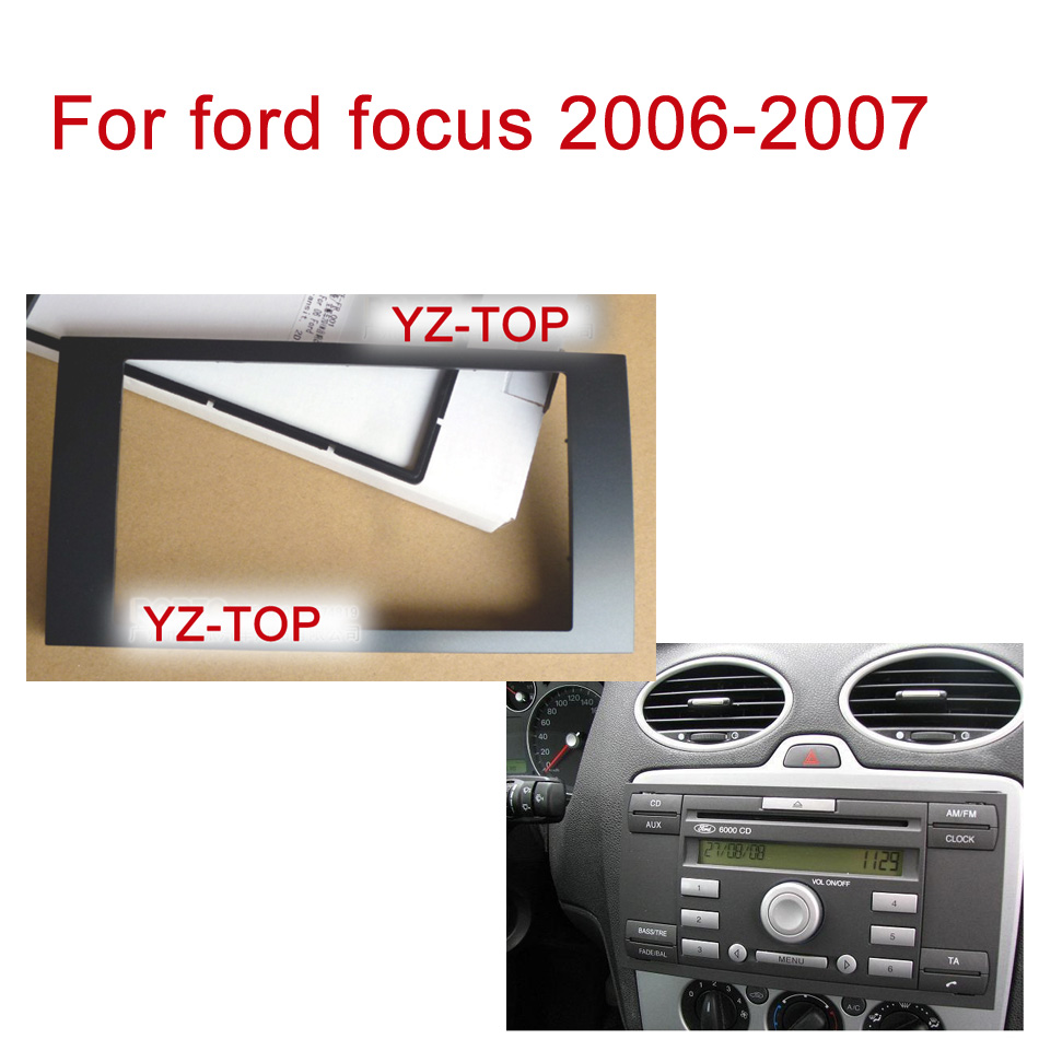 Yz-top For ford focus Facia installation kit Double Din Car DVD Frame Audio Fitting Adaptor in Dash Trim Kits