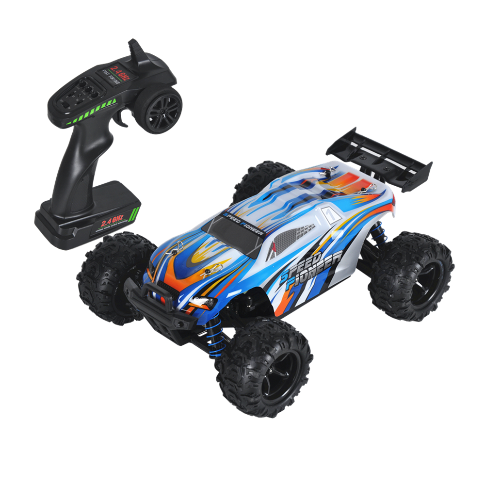 1:18 50km/h 2.4G RC Car 4WD Radio-Controlled Cars Truck RC Buggy High speed Machine on the Remote Control Car Off-Road microgear radio controlled rc grasshopper flying in the air
