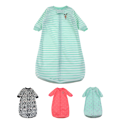 Baby Sleeping Bag Cute Sleep Sack For Newborn Polar Fleece Infant Clothes style sleeping bags Sleeve Romper for 0-9M