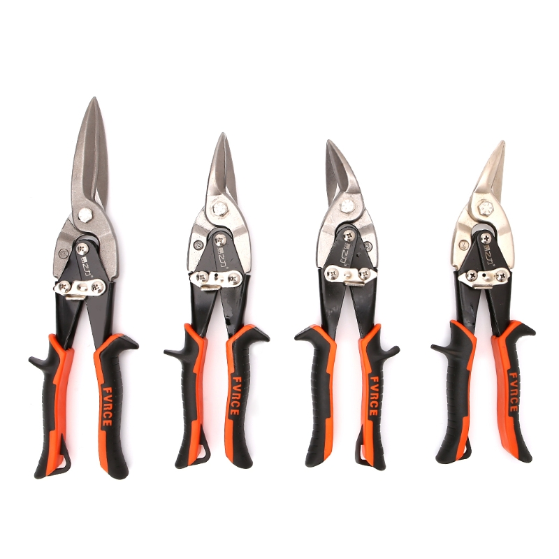 New Quality Cutting Scissors Hand Tool Straight Curved Aviation Tin Snip Sheet Metal Shear