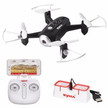 SYMA X22W RC Helicopter Drone FPV Wifi Real Time Transmission Headless Mode Hover Function Aircraft With Camera-Black