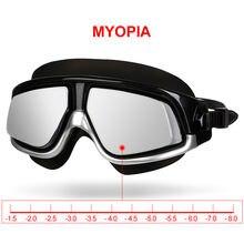 Copozz очки для плавания с близорукостью водонепроницаемые противотуманные
