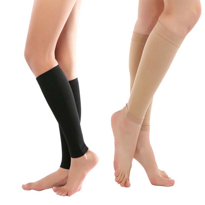 1 пара облегающих носков для облегчения голени с рукавами, поддерживающие компрессию, Новое поступление