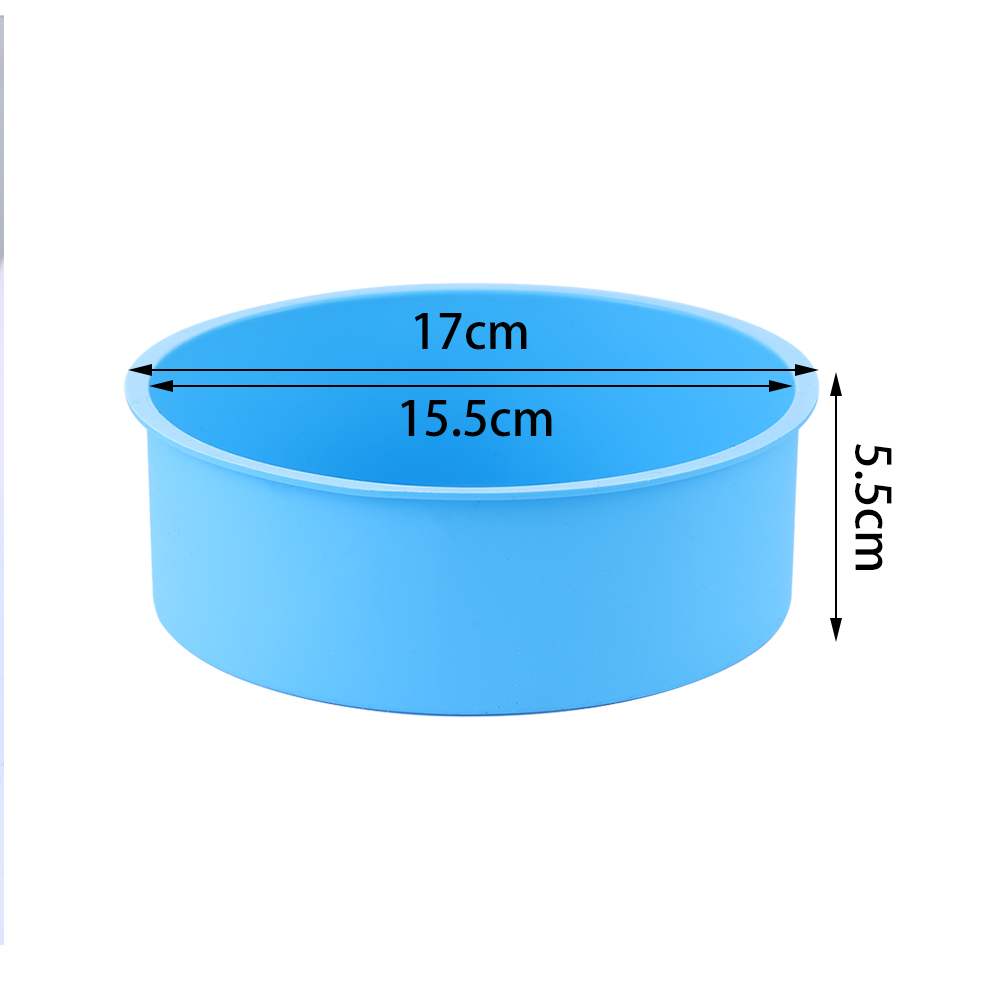 6inch Silicone Reusable and Non Stick Bakeware in Round Shape used for Cooking Confectionery Recipes with Decoration 1
