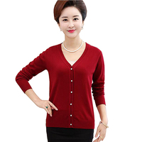 7 Colors Spring And Autumn Fashion Women Long Sleeved Sweater Large Size Loose V Neck Cardigan