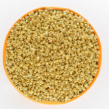 Cor de ouro bugle checa vidro semente espaçador contas 1000 pçs/lote áustria cristal longo tubo contas para fazer jóias diy