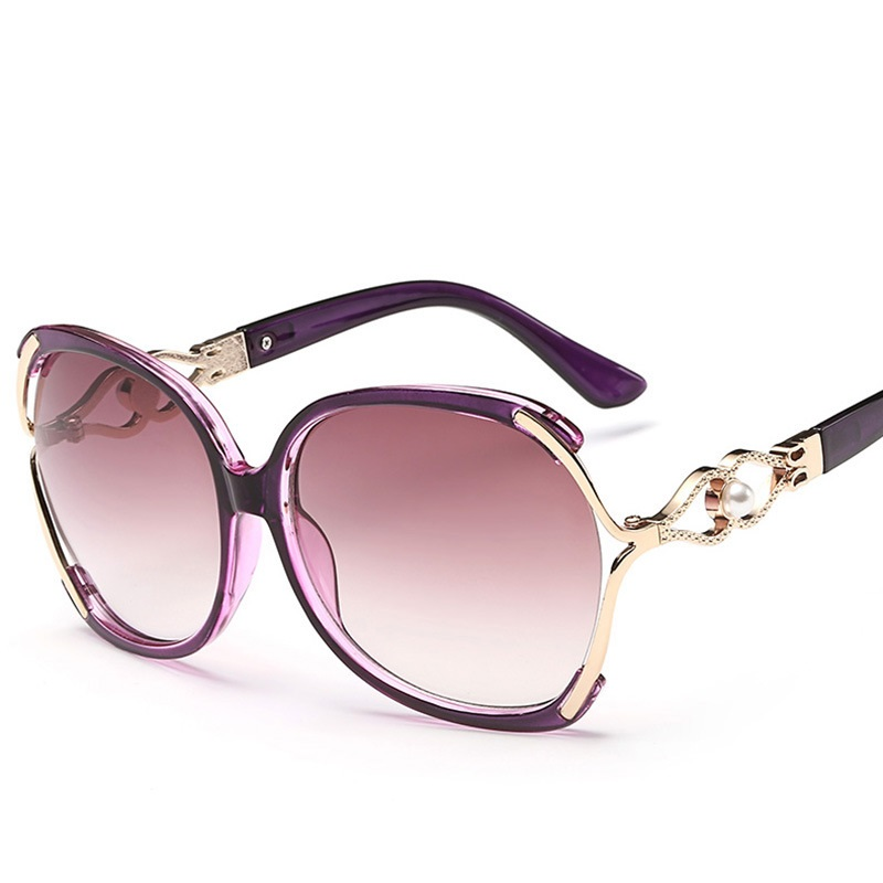 2017 New Vintage Pearl Sunglasses Women Oculos De Sol Feminino Fashion Gradient Sunglass Women Brand Designer Sun Glasses 142M 1