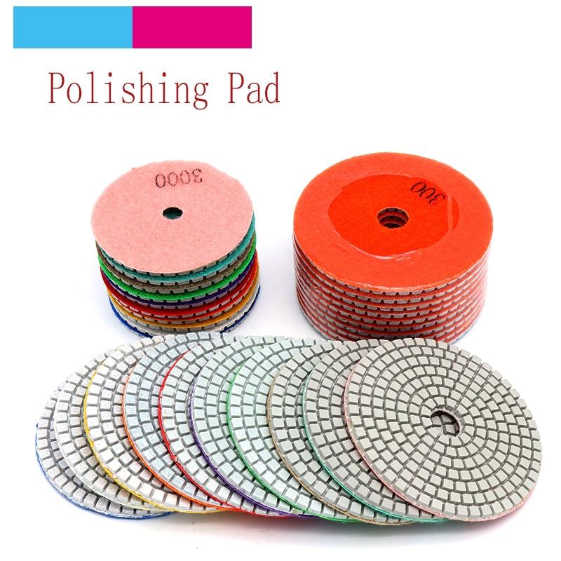 1X 4/'/' Wet Diamond Polishing Sanding Pad Disc Concrete Granite Marble Stone Kit