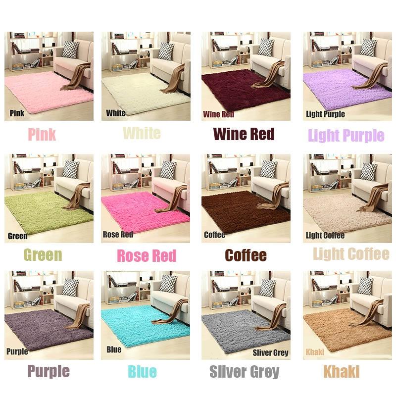 Living Room Carpet European Fluffy Mat Kids Room Rug Bedroom Mat Antiskid Soft Faux Fur Area Rug Gray Red Pink Rectangle Mats