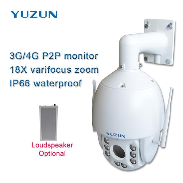 3g 4g sim card ip ptz cctv camera 18x zoom varifocus zoom outdoor speed dome 4g lte security camera with 150M ir distance
